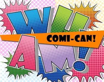 "COMI-CAN! 5 Comic Book  Alphabets - 43 - 300 DPI - PDF & PNGs - 3"" High"
