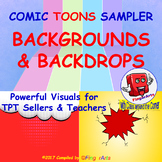 COMIC BACKGROUNDS / BACKDROPS SAMPLER for TPT Sellers / Cr