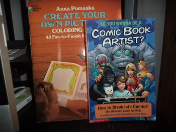 COMIC BOOK ARTIST     CREATE YOUR OWN PIC (SET OF 2)