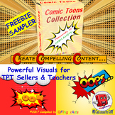 COMIC TOONS SAMPLER for TPT Sellers / Creators / Teachers