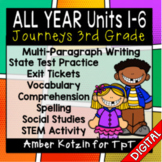 ALL YEAR Units 1 - 6 Ultimate Bundle: Third Grade Journeys - Distance Learning