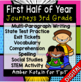 HALF YEAR Units 1-3 Ultimate Bundle: Third Grade Journeys