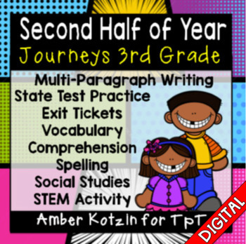 HALF YEAR Units 4-6 Ultimate Bundle: Third Grade Journeys - Distance Learning