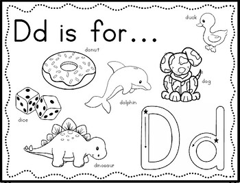Zoo Phonics Alphabet Sounds Letter Coloring Book Worksheets with Rainbow Writing