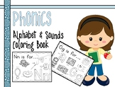 Zoo Phonics Alphabet Sounds Coloring Book Worksheets with