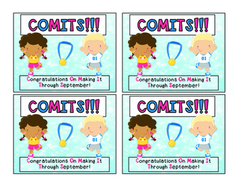 COMITS:  Congratulations on Making it Through September