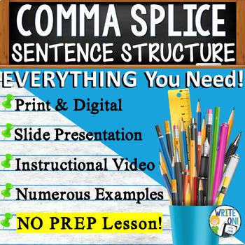 COMMA SPLICES - Writing Fluency & Grammar - High School