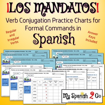 commands formal commands practice charts by my spanish 2 go tpt. Black Bedroom Furniture Sets. Home Design Ideas