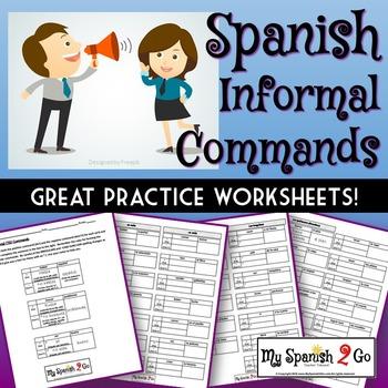 COMMANDS: (Informal)  Great practice worksheets!