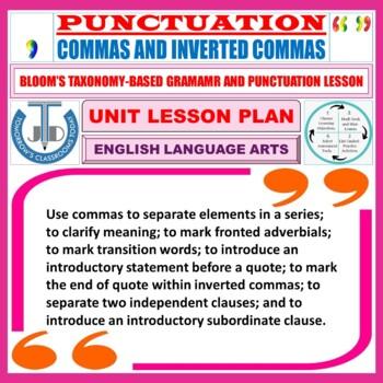 COMMAS: LESSON PLAN & RESOURCES