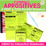 """COMMA RULES """"No Cut"""" Interactive Notebook: Appositives"""