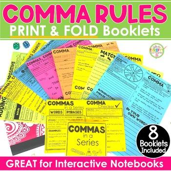 "COMMAS ""No Cut"" Interactive Notebook BUNDLE In a Series, A"