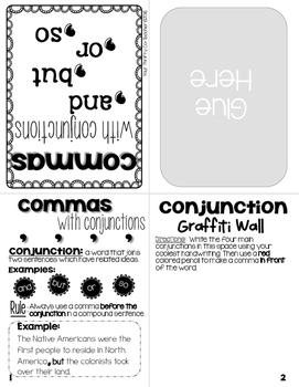 "COMMAS ""No Cut"" Interactive Notebook Mini Book Resource (FREE)"