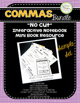 "COMMA RULES ""No Cut"" Interactive Notebook Mini Book Resource (FREE)"