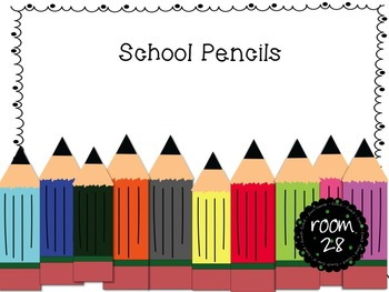 """COMMERCIAL USE: """"School Day"""" Pencils"""