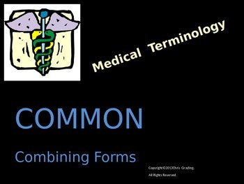 COMMON COMBINING FORMS