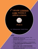 COMMON CORE 1st Grade Weekly Applications (Week 4 Mini-Lessons)