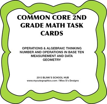 COMMON CORE 2ND GRADE MATH TASK CARDS