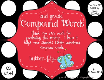 NO PREP 2nd Grade Compound Words Enrichment Pack
