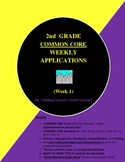 DISTANCE LEARNING..COMMON CORE 2nd Grade Weekly Applicatio