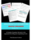 COMMON CORE ALIGNED Argumentative Essay Graphic Organizer