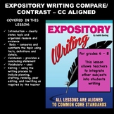 EXPOSITORY INFORMATIONAL COMPARE/CONTRAST ESSAY 6 - 8th Gr