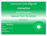 COMMON CORE ALIGNED SPECIAL EDUCATION INTERACTIVE LESSON P