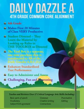 FREE COMMON CORE ALIGNMENT - MORNING WORK - 4th Grade - DAILY DAZZLE B
