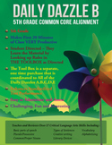 FREE COMMON CORE ALIGNMENT - MORNING WORK - 5th Grade - DAILY DAZZLE B