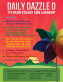 FREE COMMON CORE ALIGNMENT - DAILY DAZZLE D BELL RINGER -7th Grade