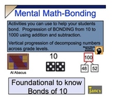Grade 3-5 COMMON CORE-NUMBER BONDS & MENTAL MATH ACTIVITIES- for SMARTBOARD