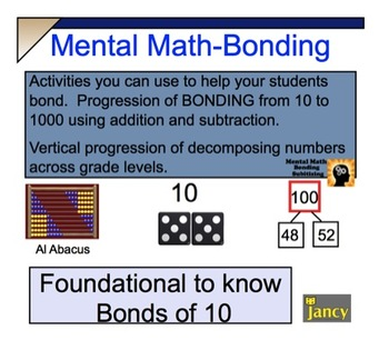 Grade 3-5 COMMON CORE-NUMBER BONDS & MENTAL MATH ACTIVITIES- for SMARTBOARD