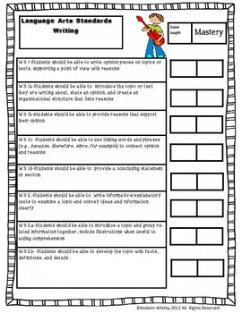 COMMON CORE CHECKLIST COMPLETE ELA AND MATH BUNDLED(THIRD GRADE)
