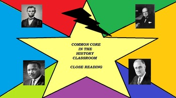 """COMMON CORE CLOSE READ - JFK's """"We Choose to Go to the Moon"""" With Key"""