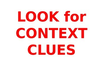 COMMON CORE CONTEXT CLUE POWER POINT LESSON