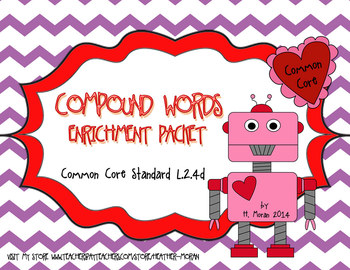 *COMMON CORE Compound Words Enrichment Unit