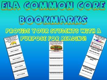 COMMON CORE ELA BOOKMARKS