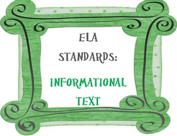 COMMON CORE ELA Posters (11th - 12th Grade)