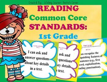 COMMON CORE ELA Posters (1st Grade)