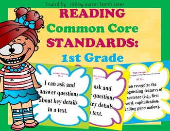 COMMON CORE ELA Posters (1st Grade)