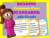 READING COMMON CORE STANDARDS Posters (4th Grade)