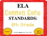 COMMON CORE ELA Posters (6th Grade)
