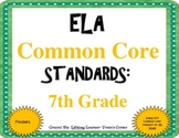 COMMON CORE ELA Posters (7th Grade) ~ Updated Version