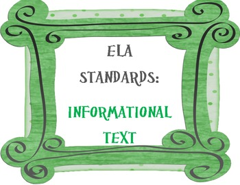 COMMON CORE ELA Posters (9th-10th Grade)~ Updated Version