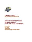 COMMON CORE ENGLISH LANGUAGE ARTS CHECKLIST