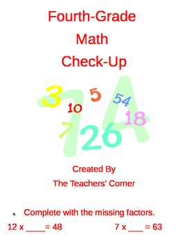 Common Core Fourth-Grade Math Review: Operations and Algebraic Thinking