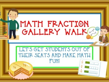 COMMON CORE FRACTION GALLERY WALK- Equivalent, Compare, Ad