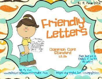*COMMON CORE Friendly Letter Activity Pack