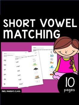 CVC matching short vowels! PRINT AND GO