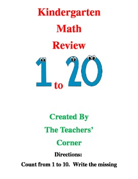 Common Core Kindergarten Math Review---Bundle Pack: Counting and Cardinality